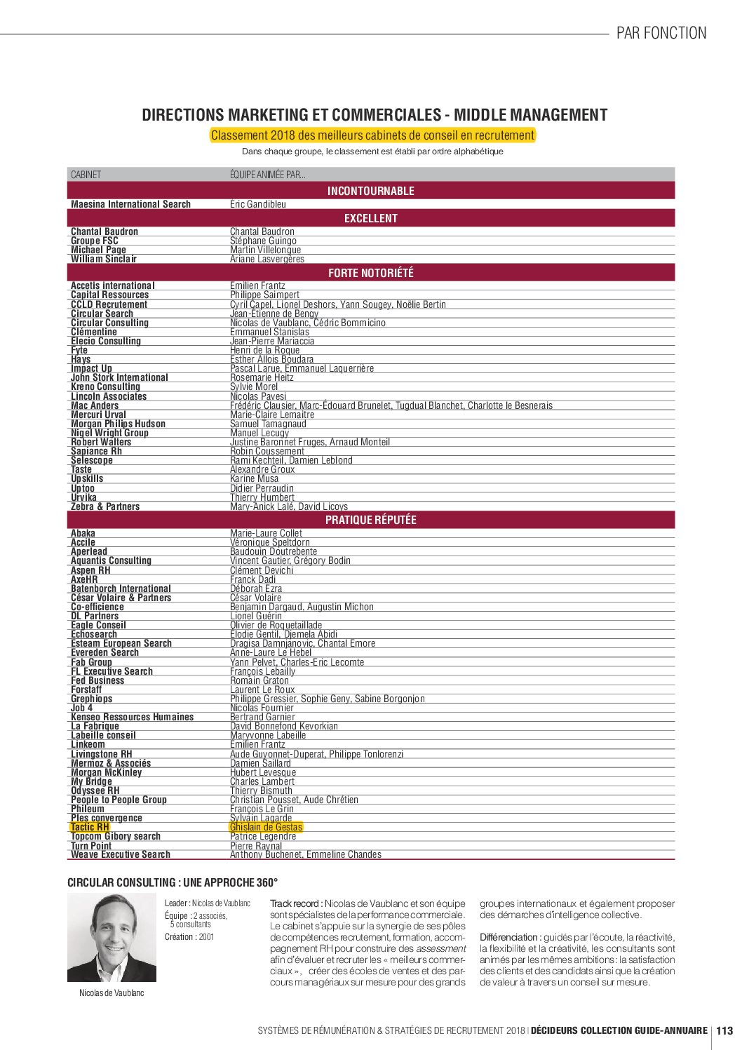 Cabinet de conseil classement - Classement cabinet conseil ...